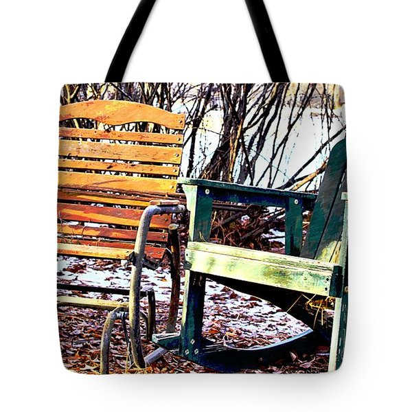 Old Friends In February Sunlight Tote Bag by Aliceann Carlton