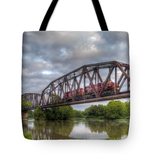 Old Frisco Bridge Tote Bag