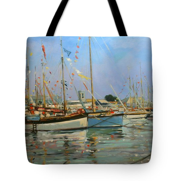 Old Gaffers  Yarmouth  Isle Of Wight Tote Bag
