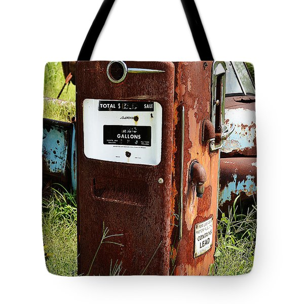 Tote Bag featuring the photograph Old Gas Pump by Paul Mashburn
