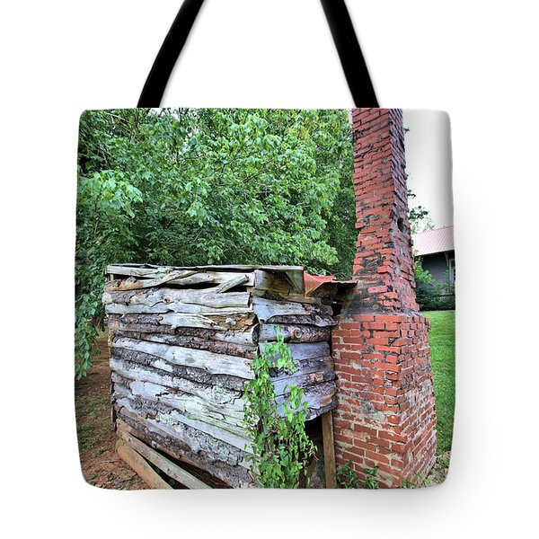 Tote Bag featuring the photograph Old Georgia Smokehouse by Gordon Elwell