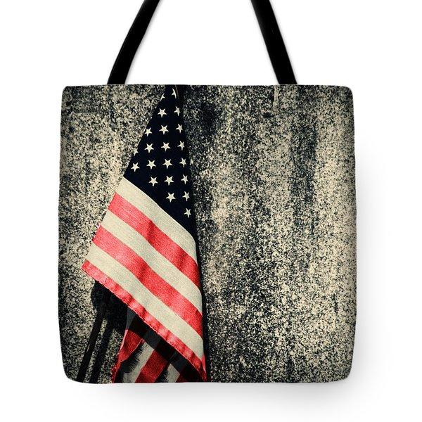 Old Glory Tote Bag by Karol Livote