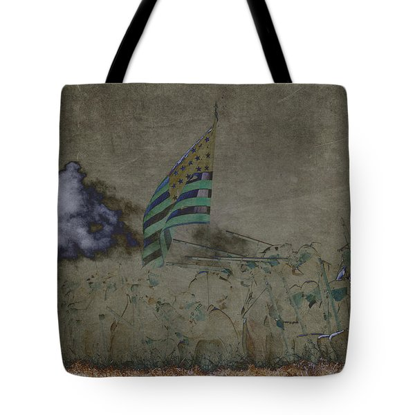 Old Glory Standoff Tote Bag by Wes and Dotty Weber