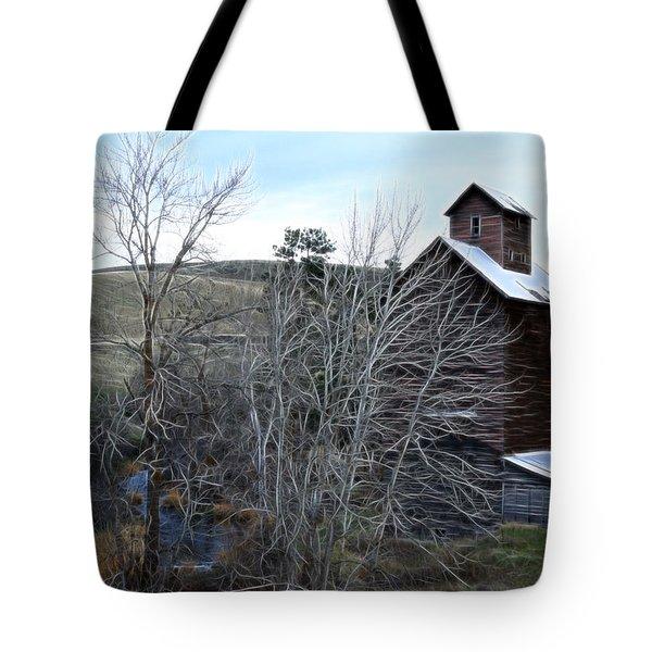 Old Grain Barn Tote Bag by Steve McKinzie