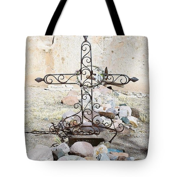 Tote Bag featuring the photograph Old Gravestone Marker by Kerri Mortenson