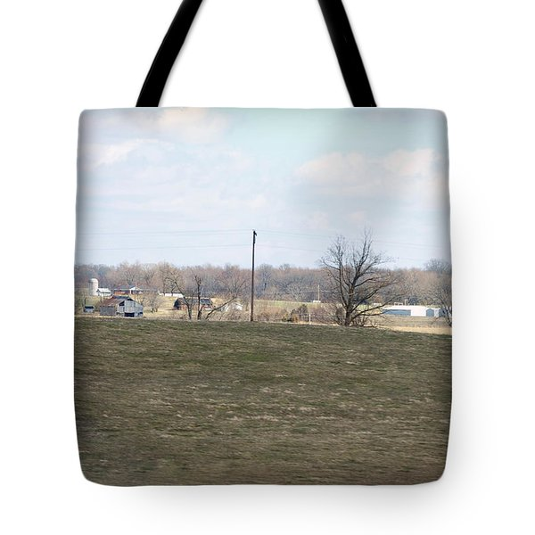 Old Gray Shed On The Hill Tote Bag by Paulette B Wright