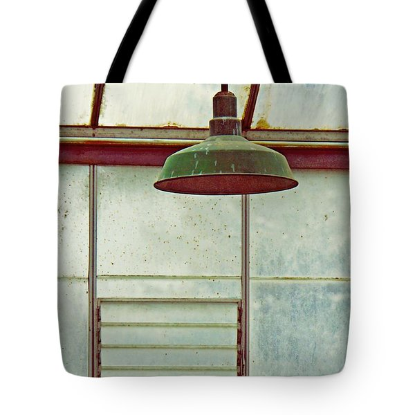 Old Green Lamp Tote Bag by Patricia Strand