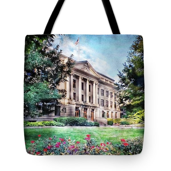 Old Guilford County Courthouse Summertime Tote Bag