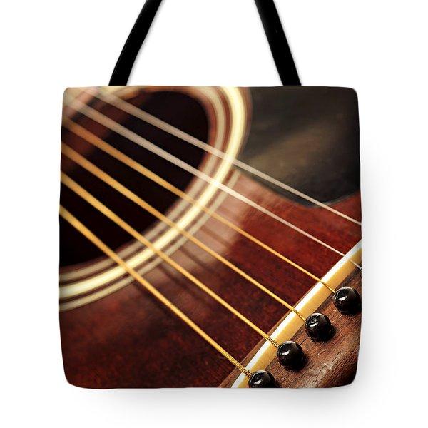 Old Guitar Tote Bag