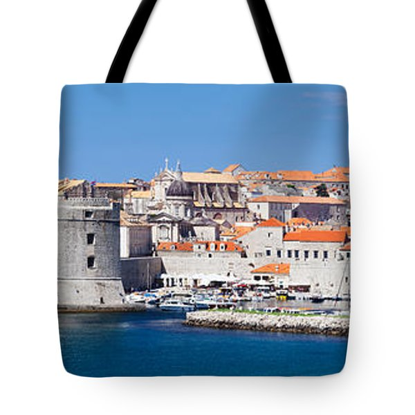 Old Harbor And Old Town Of Dubrovnik Tote Bag