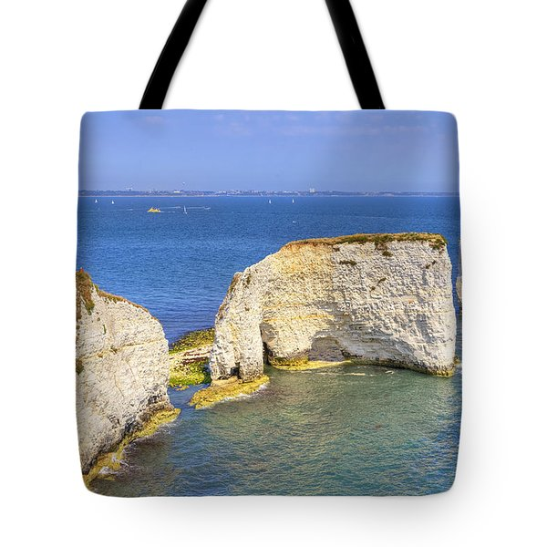Old Harry Rocks - Purbeck Tote Bag by Joana Kruse