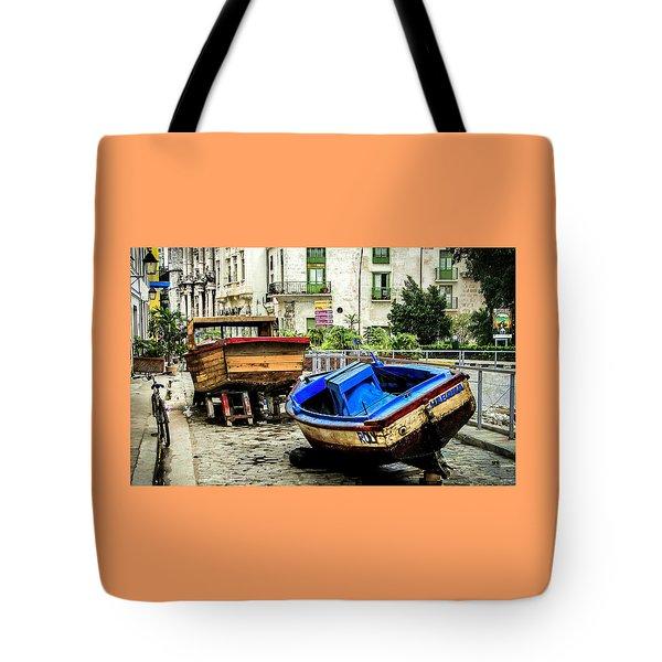 Old Havana Tote Bag by Karen Wiles