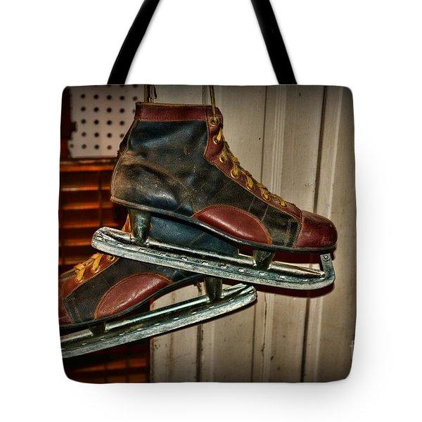 Old Hockey Skates Tote Bag by Paul Ward