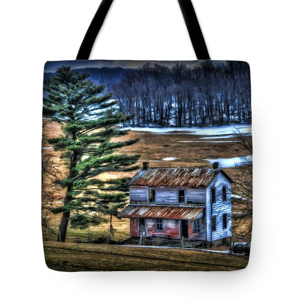 Old Home Place Beside Pine Tree Tote Bag by Dan Friend