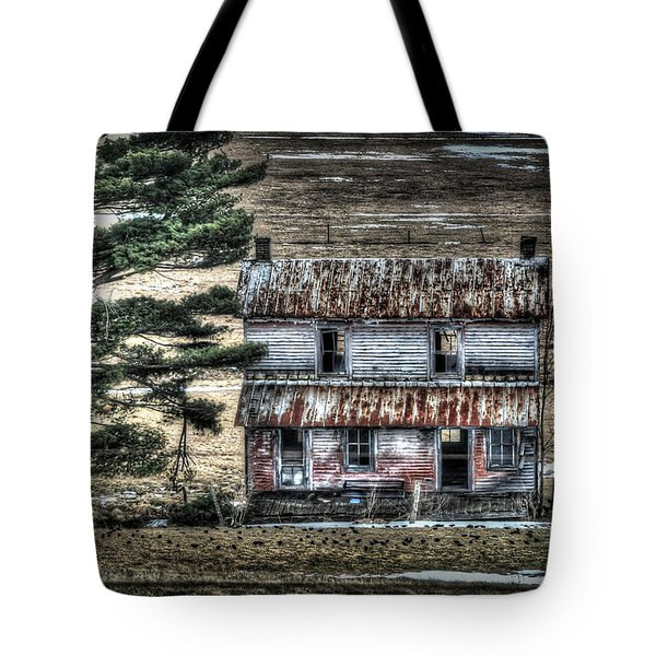 Old Home Place With Birds In Front Yard Tote Bag by Dan Friend