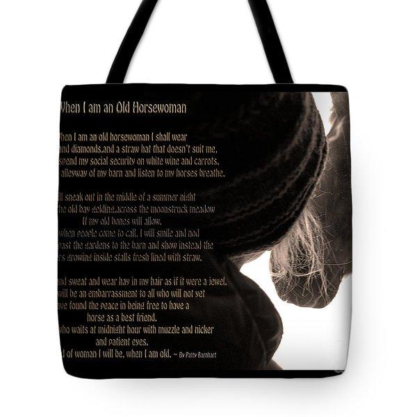 Old Horsewoman Tote Bag