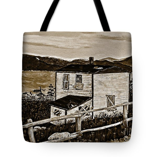 Old House In Sepia Tote Bag by Barbara Griffin