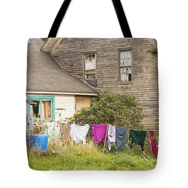 Old House With Laundry Tote Bag