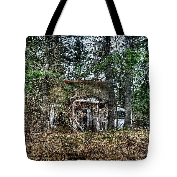 Old House With Overgrown Brush Tote Bag by Dan Friend