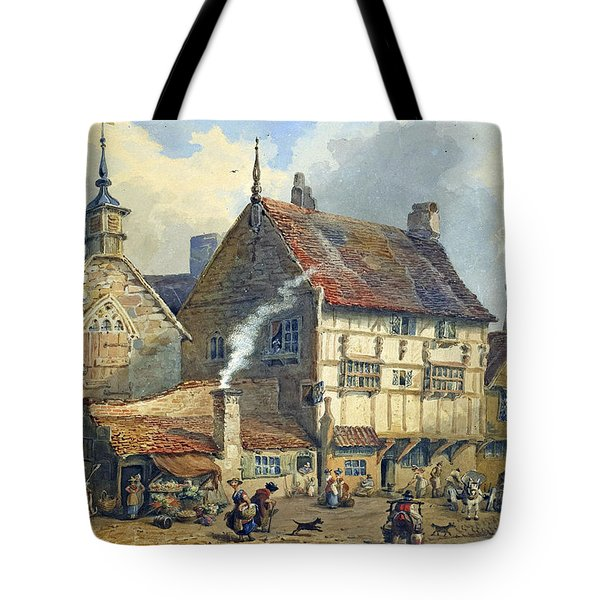 Old Houses And St Olaves Church Tote Bag by George Shepherd