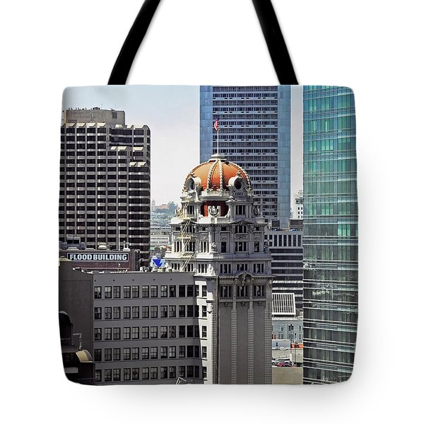 Tote Bag featuring the photograph Old Humboldt Bank Building In San Francisco by Susan Wiedmann