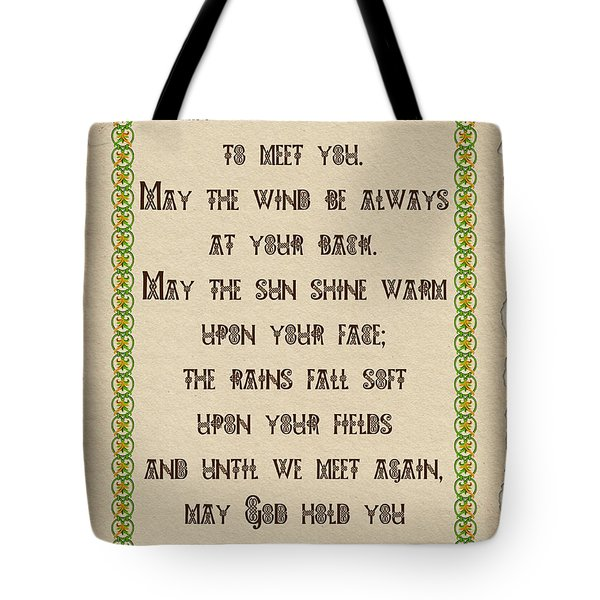 Old Irish Blessing Tote Bag