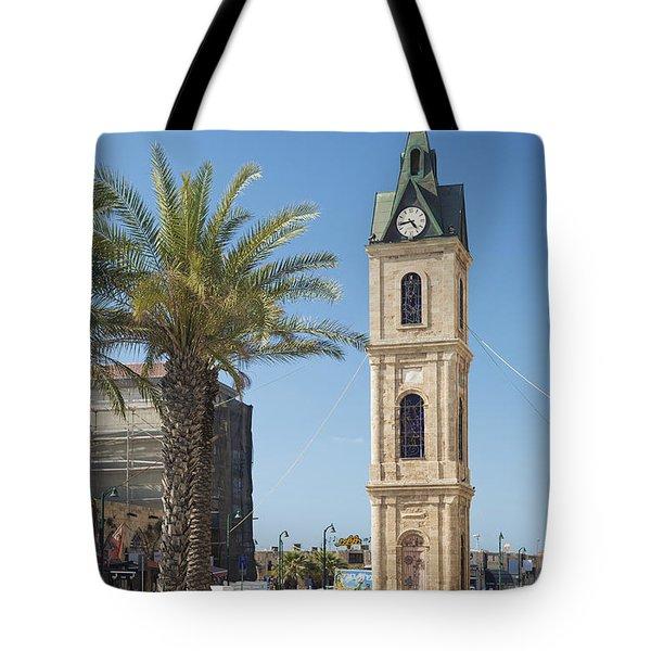 Old Jaffa Clocktower In Tel Aviv Israel Tote Bag