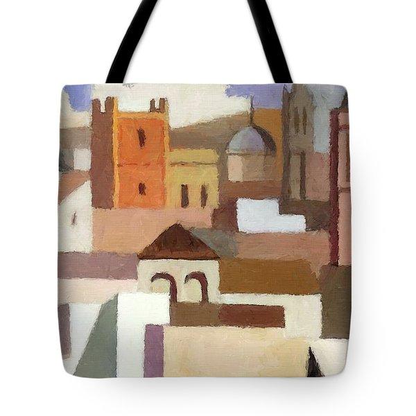 Old Jerusalem Tote Bag by Munir Alawi