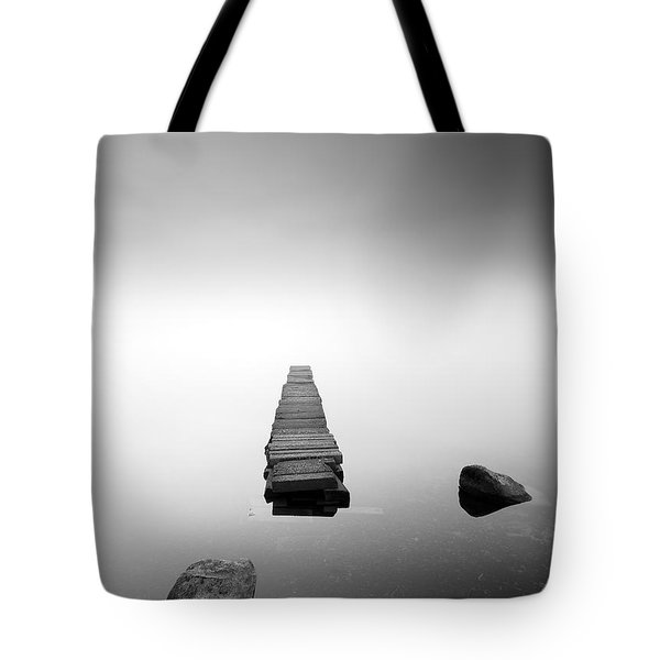 Old Jetty In The Mist Tote Bag