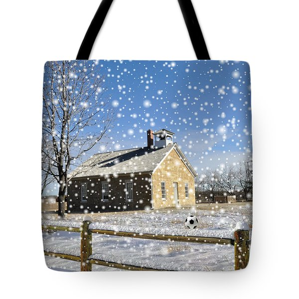 Tote Bag featuring the photograph Old Kansas Schoolhouse by Liane Wright