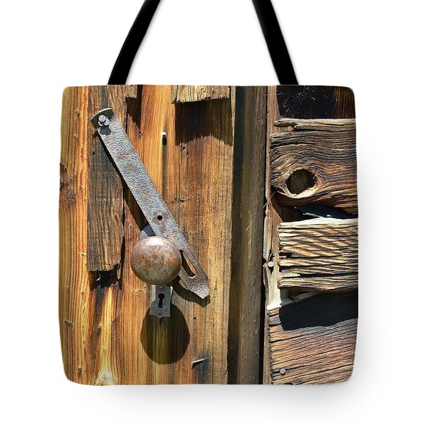 Old Latch And Wood Tote Bag by Kae Cheatham