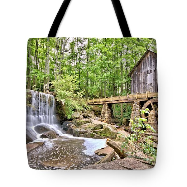 Old Lefler Grist Mill Tote Bag by Gordon Elwell