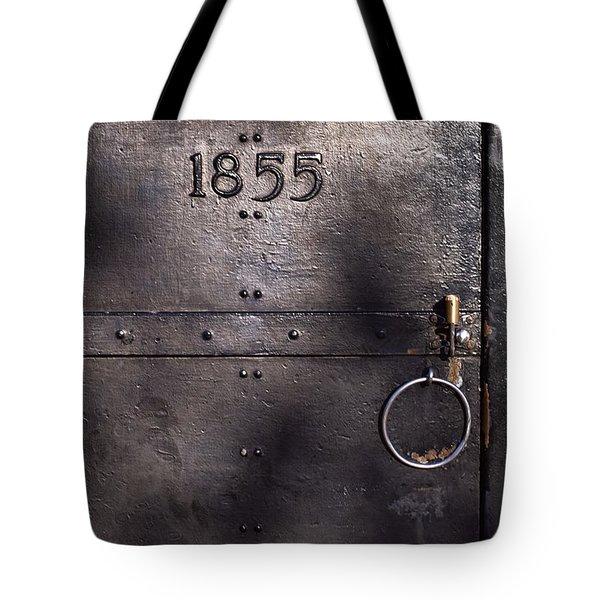 Old Lighthouse Door Tote Bag by Eyzen M Kim