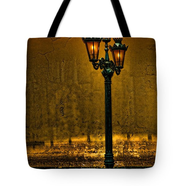 Old Lima Street Lamp Tote Bag
