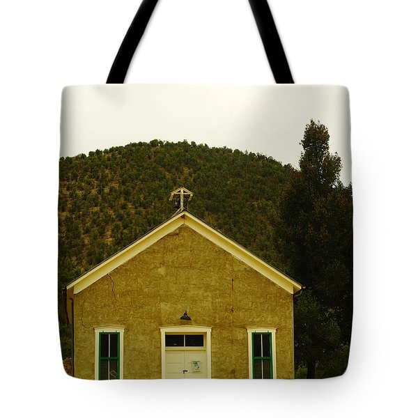 Old Lincoln City Church Tote Bag by Jeff Swan
