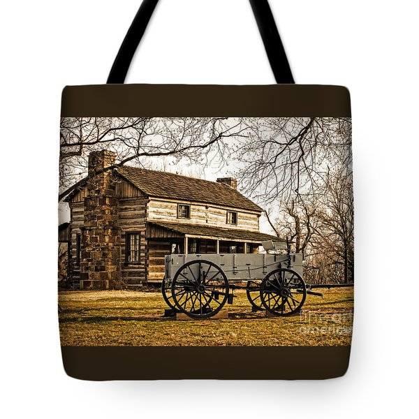 Old Log Cabin In Autumn Tote Bag