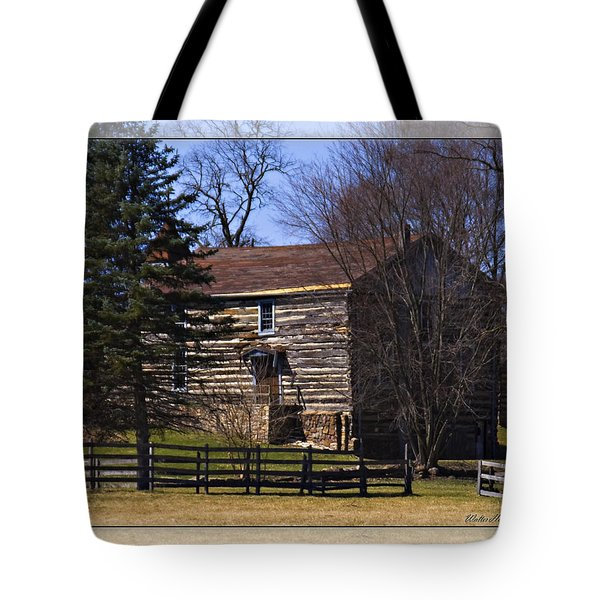 Old Log Home Tote Bag