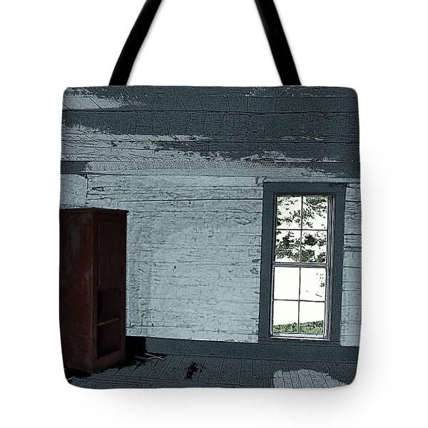 Old Log House Interior Tote Bag