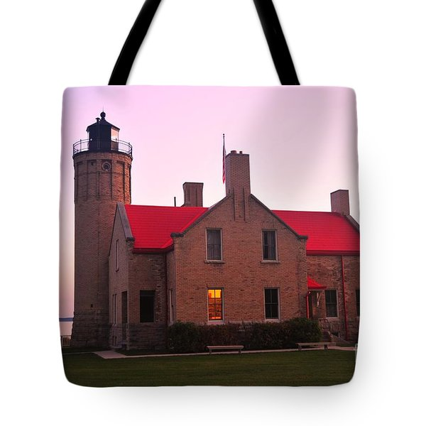 Tote Bag featuring the photograph Old Mackinac Point Lighthouse by Terri Gostola