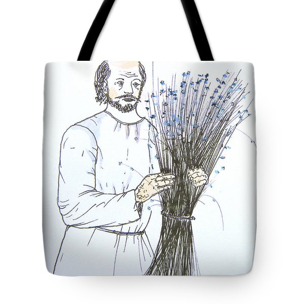Old Man And Flax Tote Bag