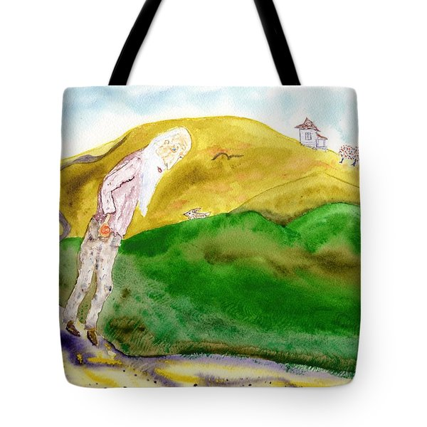 Old Man And The Oranges Tote Bag by Jim Taylor
