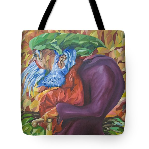 Old Man Collecting Sticks - But Not On The Sabbath Tote Bag