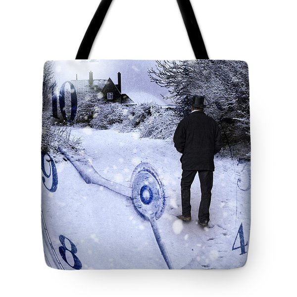 Old Man In Tophat Tote Bag by Amanda Elwell