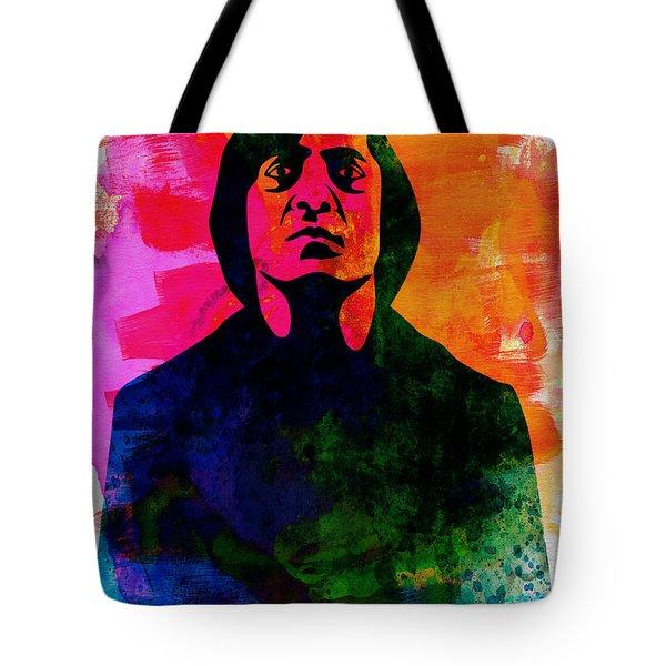 Old Man Watercolor Tote Bag