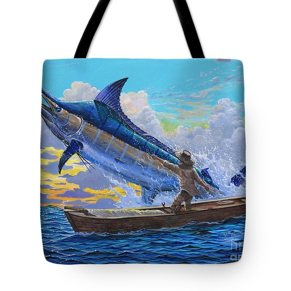 Old Man's Battle Off00133 Tote Bag by Carey Chen