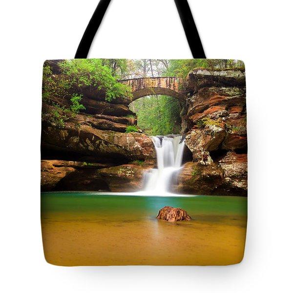 Old Man's Cave Upper Falls Tote Bag