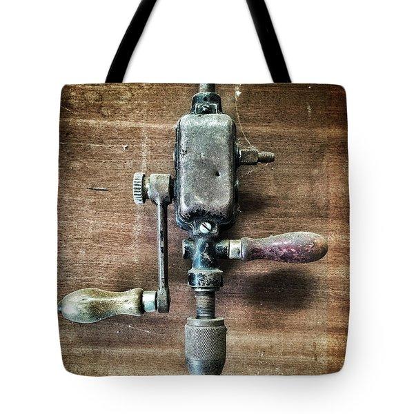 Old Manual Drill Tote Bag by Carlos Caetano