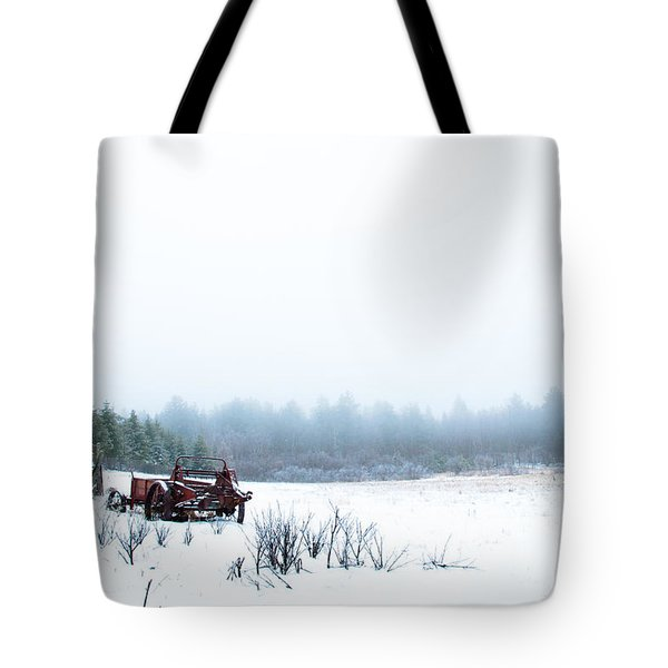 Old Manure Spreader Tote Bag