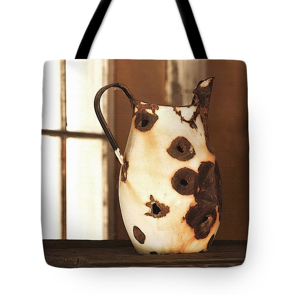 Old Metal Pitcher Tote Bag by Art Block Collections