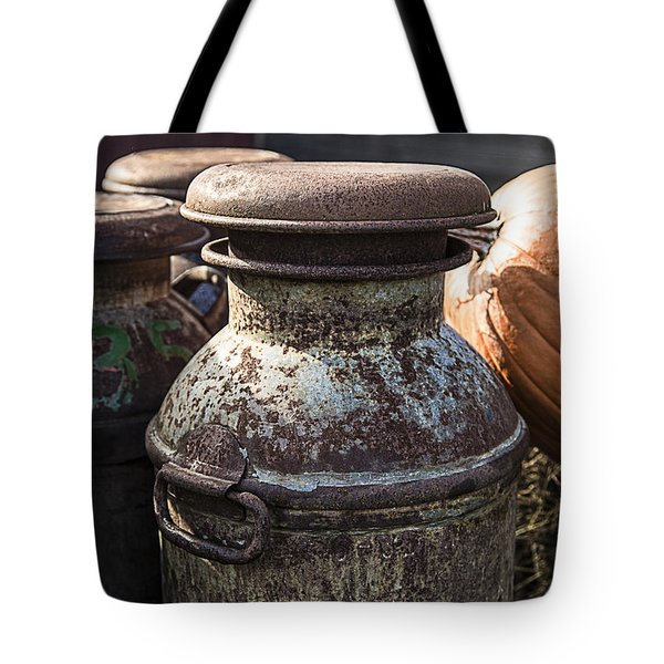 Old Milk Cans Tote Bag